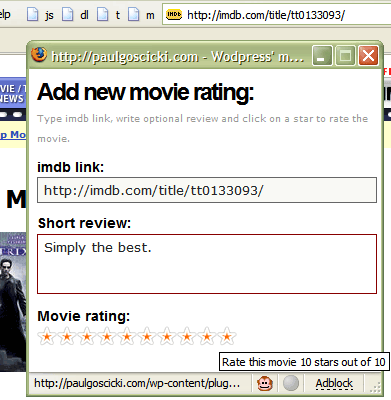 wp movie ratings